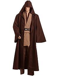 Túnica Jedi de Daiendi, color marrón, para adulto.