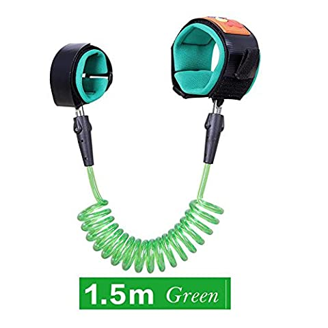 Baby Anti-lost Belt,YIGO Baby Anti Lost safety wrist link bungee leash Safety Toddler Harness (1.5M Green)
