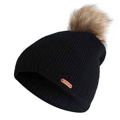 VRTUR Damen Winter Warm Stricken Mütze Häkeln Hut Pelz Cannabis Wolle Twist Plus SAMT Verdickung Hut Caps Mütze