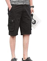 Kasen Hombres Suelto Pantalones Cortos Leisure Playa Bermuda Cargos Shorts