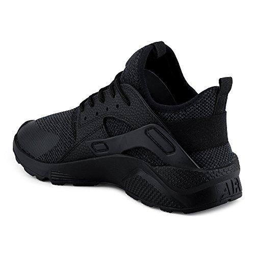 Fivesix Uomo Sneaker Scarpe Sportive Scarpe Da Corsa Scarpe Casual Scarpe Tessili Scarpe Stringate Mimetiche Scarpe Basse Nero / Nero