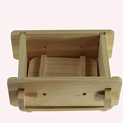 Txyfyp Tofu Maker Ristorante Pressa Scatola Cucina Attrezzi Fai da Te Accessori Piccolo Casa Cucinare Rimovibile Legno - Come da Foto, 16*12*9cm