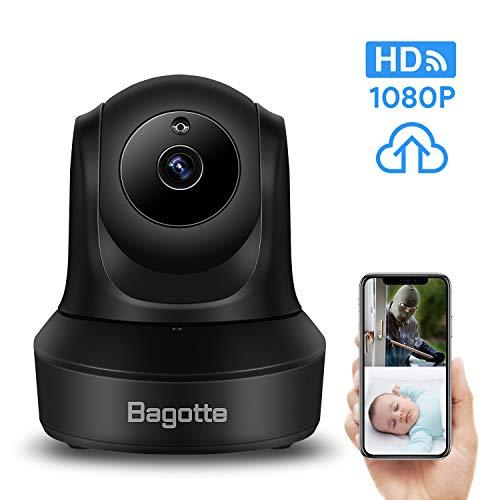 Telecamera di sorveglianza wireless bagotte hd 1080p telecamera wi-fi interno videocamera ip sensore movimento visione notturna pan tilt zoom-audio bidirezionale/baby monitor/storage nel cloud