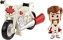 Disney Pixar Toy Story 4, Mini-Figurine Duke Caboom et sa Moto, Jouet Miniature pour Enfant, GCY50