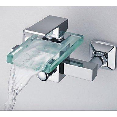 Mur douche Mont Cascade robinets baignoire verre robinet pour salle de bains en laiton corps chromé finition mitigeur