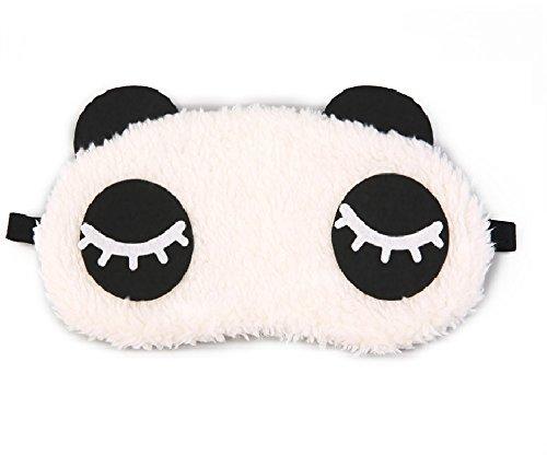 Jenna Eyelashes Panda Sleeping Eye Mask, White, 40.82g