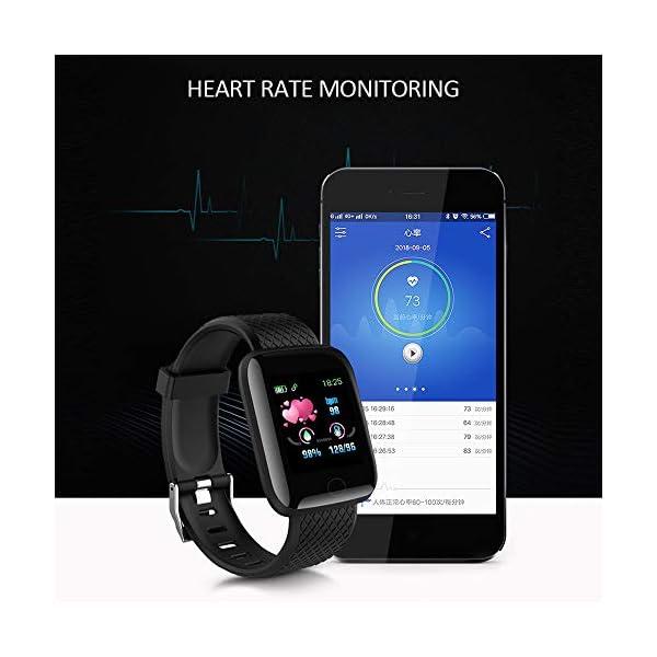 Smart Fitness Tracker Watch, IP67 Impermeable Reloj Inteligente con Contador de Pasos Monitor de sueño, podómetro Reloj para Hombres Mujeres niños 6