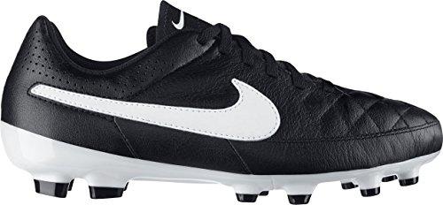 Nike Schuhe Kinder Jr tiempo genio leather fg Black/white-black, Größe Nike:11.5C (Nike Schuhe Für Mädchen Größe 11)