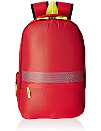 United Colors of Benetton 18 Ltrs Red Casual Backpack(17A6BKPK0L21I)