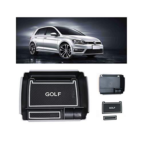 LFOTPP Golf 7 R GTD GTI GTE Consola Central Caja de Almacenamiento Apoyabrazos Caja Interior Interior Center Armrest Storage Box