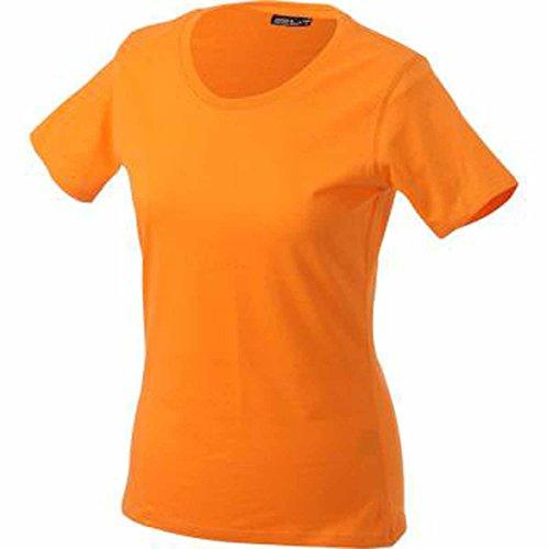 JAMES & NICHOLSON Damen T-Shirt, Einfarbig Orange - Orange