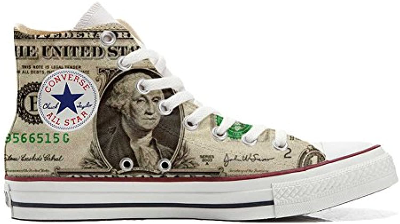 Converse All Star Personalisierte Schuhe (Custom Produkt) Dollaro USA