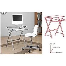 Mesa escritorio cristal - Mesas pequenas ordenador ...
