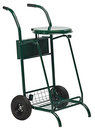 Chariot de voirie Mobisac - roues pneumatiques - 110l - vert mousse - RAL 6005