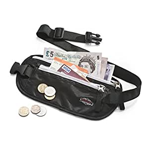 Money Belt for Travelling Redvers RFID Travel Money Pouch, Valuables Safe + Hidden –MONEY BACK GUARANTEE- The Best Money Belt / Travel Wallet for Security – Running Belt - Passport + Money Wallet