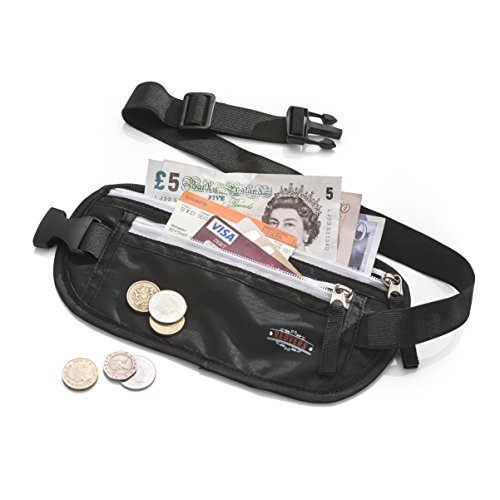 Money Belt – Redvers RFID Travel Money Pouch, Valuables Safe + Hidden –MONEY BACK GUARANTEE- The Best Money Belt / Travel Wallet for Security – Running Belt - Passport + Money Wallet for Women and Men Test