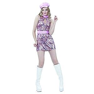 Dancing Disco Queen Costume Deluxe - - Reír Y Confeti - Fibdis021 - Para adultos traje de la Mujer - Talla M