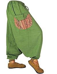 Guru-Shop Bequeme Pluderhose mit Abgesetzter Tasche - Schwarz, Herren/Damen, Baumwolle, Size:One Size, Männerhosen Alternative Bekleidung