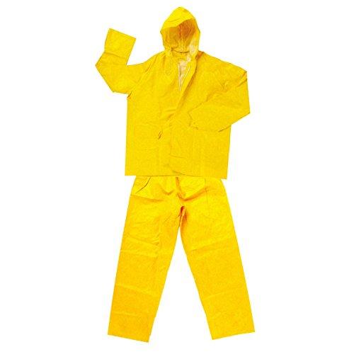Private Label Xl - Giacca e pantalone tessuto impermeabile bispalmato in pvc/poliestere/pvc. cappuccio fisso con cordino, chiusura con cerniera e bottoni automatici.