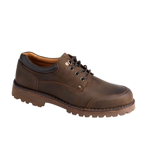Stitched Down Brown Nubuck Shoes Size 8.5 Width M