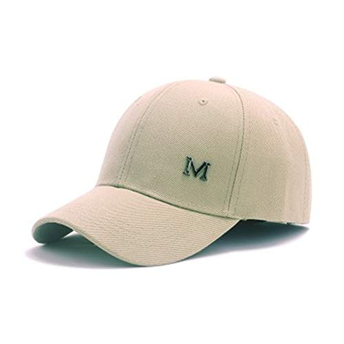 GUOSH Männer Big Head Baseball Cap Erwachsene Schirmmütze mit großem Umfang 56-68cm Hip Hop Hut Khaki 2