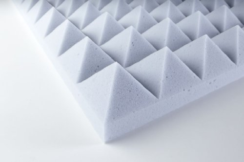 Pyramidenschaumstoff Basotect® selbstklebend 5 cm Platte - Hellgrau 120x60x5 cm 0,72 m2