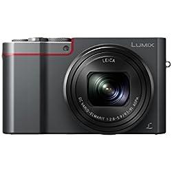 Panasonic Lumix Appareil Photo Compact Expert Zoom DMC-TZ100EFS (Grand capteur type 1 pouce 20 MP, Zoom LEICA 10x F2.8-5.9, Viseur, Ecran tactile, Vidéo 4K, Stabilisé) Noir - Version Française
