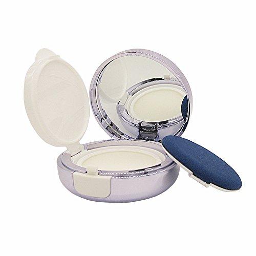 Violet vide Portable Coussin d'air Puff Container Coiffeuse Coque Poudre Boîte avec coussin d'air éponge Houppette et miroir pour BB CC liquide Fond de teint crème
