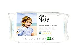 (Pack of 1) : Naty by Nature Babycare Unscented Sensitive Eco Wipes, 56 wipes