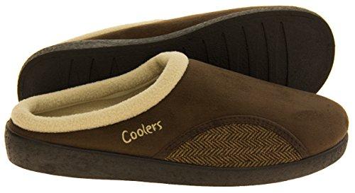 Herren Coolers Offene gepolsterte Pantoffeln Braun