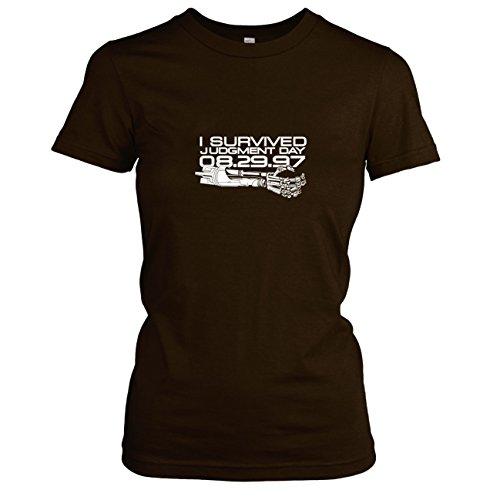 TEXLAB - Judgment Day - Damen T-Shirt, Größe XL, braun