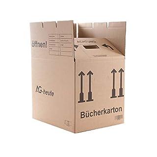 20 Bücherkartons 400 x 330 x 340mm Archivkarton Ordner Umzugs Kartons Bücher Kiste von A&G-heute