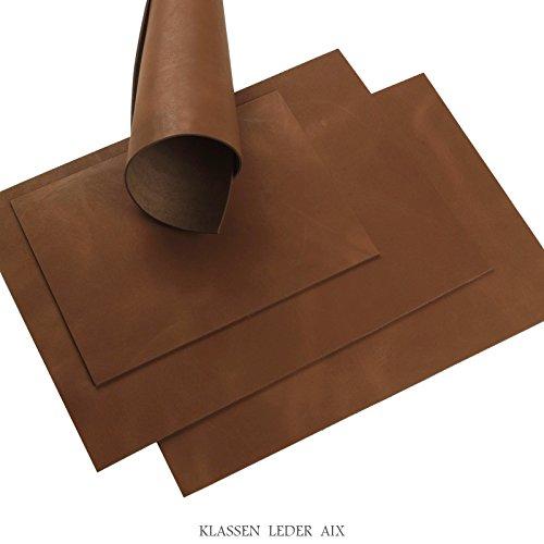 Piel de becerro 2,5mm de grosor Cognac Soft Pull Up 14, piel, 148 x 210 mm, 1 x A5
