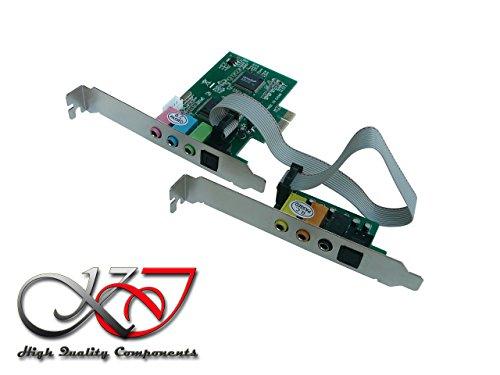 Pcie 8-kanal-audio (Kalea Informatique Controller-Karte Sound auf Port PCI-E/8-Kanal (7.1)–Chipsatz CMI8768und asm1083–ENTREE und Ausgang SPDIF von Glasfaser)