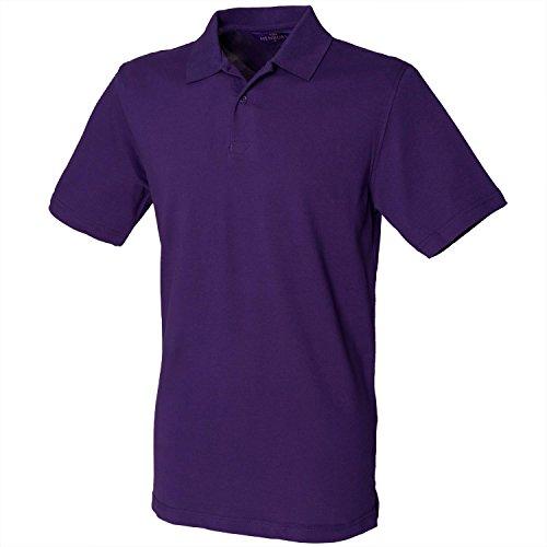 Henbury Unisex Polo Shirt Slim Fit Stretch Purple