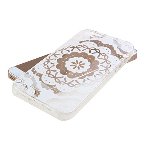 iPhone 4S Hülle, iPhone 4 Hülle, iPhone 4 / 4S Silikon Crystal Case Hülle mit Malerei Muster, SainCat Weiche Transparent Silikon Schutzhülle Hülle Gel Bumper Soft TPU Case Backcase Weiches Crystal Cle Sonnenblume