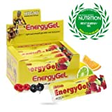 High 5 - Energy Gel Gemischte Packung 20 Tütchen Sport Nahrungsergänzung - Gelb 16cm