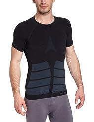 Odlo Evolution Warm T-Shirt chaud col rond manches courtes sans couture Homme