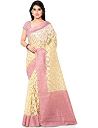 Varkala Silk Sarees Women's Chanderi Silk Saree With Blouse Piece(TD1025TM_Coral_Free Size)