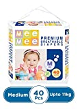 Mee Mee Premium Breathable M Baby Diapers (40 Pieces)