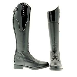 Tuffa Jubilee Bottes d'équitation en cuir de qualité Noir Taille 38