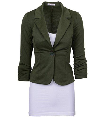 Aisuper - Giacca da abito - Maniche lunghe  -  donna Army Green