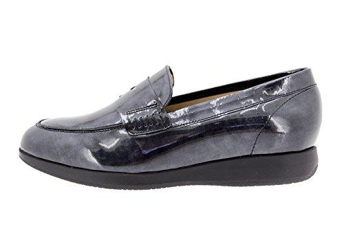 Chaussure femme confort en cuir Piesanto 9634 moccasin confortables amples Gris