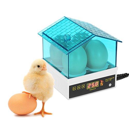 Qazwsx 4 Löcher Automatische Eier Inkubator Umweltfreundliche Geflügel Hatcher Huhn Eier Inkubatoren, Geeignet Für Huhn
