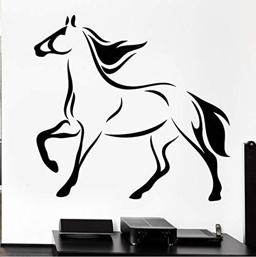 Pferd Mähne Stute Wandtattoos Rennpferd Hufe Schwanz Tier Vinyl Aufkleber Rmovable Kunstwand Für Schlafzimmer Dekoration 56x59 cm