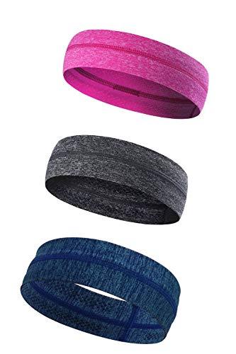 KEREITH Silikon Kein Slip Yoga Stirnbänder - Leichte Feuchtigkeit Wicking Schweißband - Best for Laufen Radfahren Fitness und Sportlich Workouts - Sportliche Slip Wrap