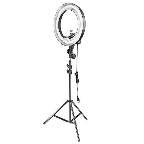 Neewer Ring Light Anneau Lumineux Fluorescent 75W:(1) Flash Annulaire Réglable+(1) 200 Pied de Lumière+(1) Mini Rotule et Porte de Téléphone pour Photo Studio