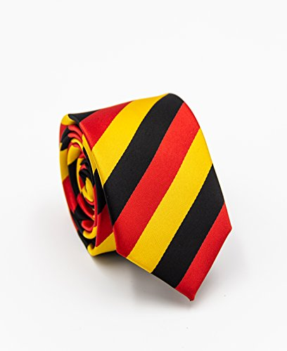 PUCCINI Deutschland Krawatte für Jungen, National-Kinderkrawatte WM, Mikrofaser, verschiedene Größen, Handarbeit (Jungen krawatte - 120cm x 6cm) (Krawatte Krawatten)