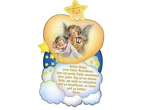 Bild Baby mit Engel * mit Gebet *