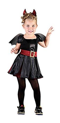 Mädchen Halloween Schläger Schönheit Kleinkind Kostüm bis zum Alter 5 Jahre (Kleinkind bis zum Alter 5 Jahre, Schwarz) (Minion Kleinkind Halloween Kostüme)